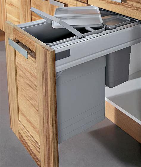 poubelle meuble cuisine poubelle de cuisine encastrée le sagne cuisines