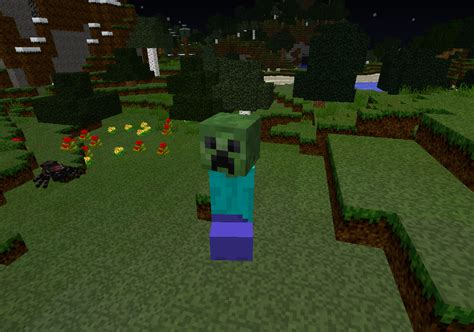 minecraft zombie creeper steve mod zombies mo mods meets daylight drop attacked burned blows similar