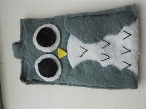 Owl Mobile Phone Case · A Fabric Animal Pouch · Sewing on