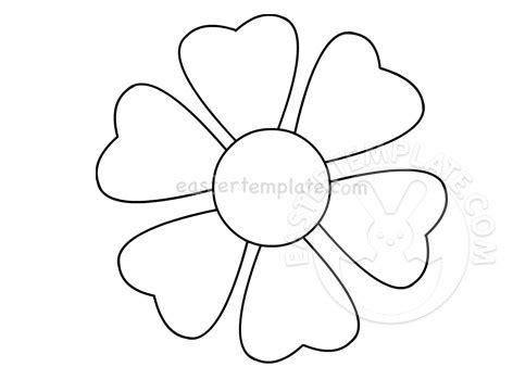 flower   heart shaped petals easter template