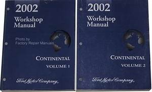 2002 Lincoln Continental Factory Service Manual Set