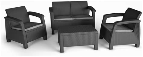 Keter Pool Lounge Chairs by Keter Corfu Lounge Outdoor Furniture Set Graphite Garden