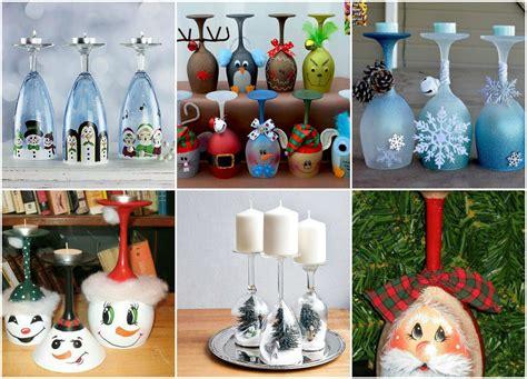 Weihnachtsdeko Für Garten Selber Machen by Diy Weihnachtsdeko Selber Machen Weinglas Als