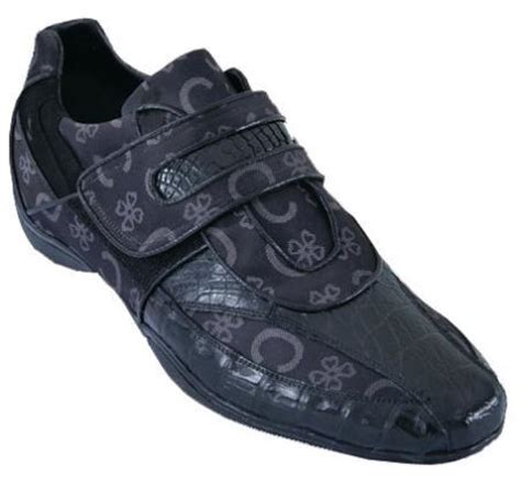 Mens Casual Shoes Los Altos Velcro Caiman Belly Leather
