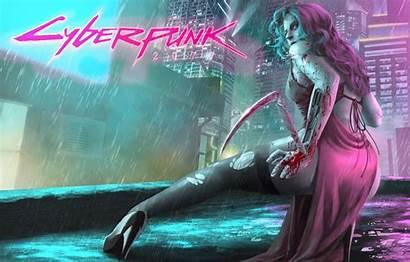 Cyberpunk 2077 Cyborg Rain Concept Anime Desktop