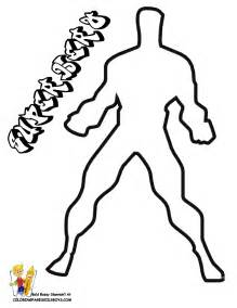 Easy Superhero Coloring Pages