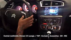 Central Multim U00eddia Citroen C4 Lounge - Exclusive Acess U00f3rios - Bh - Mg