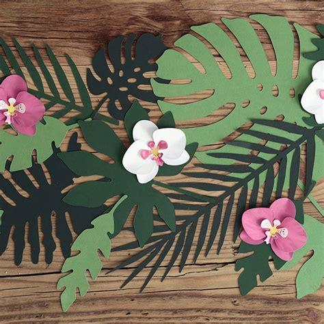 decoration de feuille de papier feuille tropicale pr 233 d 233 coup 233 e en papier vert deco f 234 te achat
