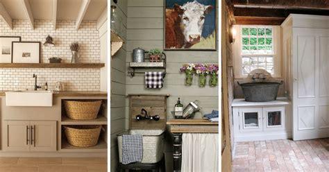 30 Inspiring Farmhouse Laundry Room Decor Ideas
