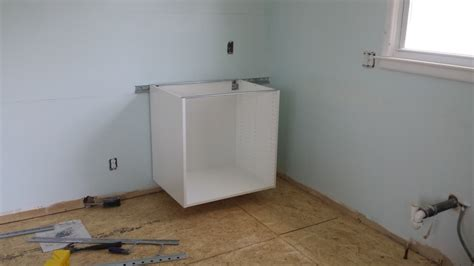 installing ikea sektion cabinets ikea sektion cabinet install day 1 kellbot