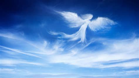 wallpaper angel blue sky hd  creative graphics