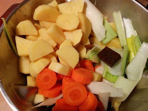 recette velout 233 poireaux pommes de terre carottes au