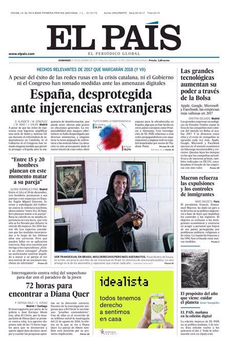 Las portadas de los periódicos de hoy, domingo 31 de ...