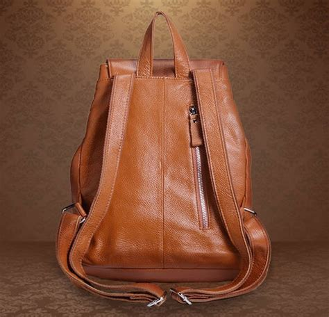 leather ladies backpack brown leather rucksack backpack