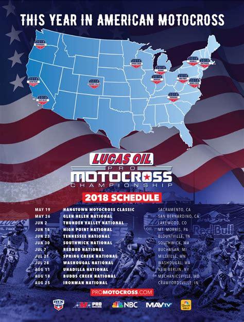 motocross ama schedule 2018 lucas oil pro motocross schedule 12 round calendar