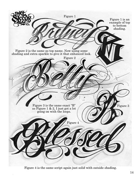 LETTERS TO LIVE BY VOLUME #1 Tattoo Script Lettering