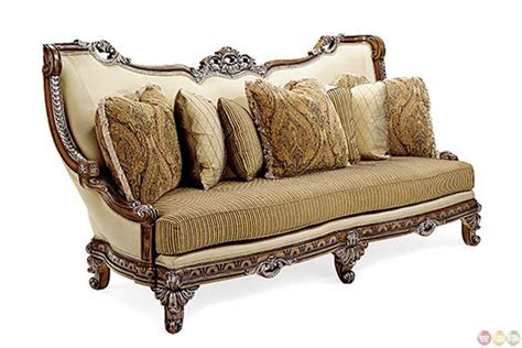 exposed wood frame sofa firenza traditional antique style exposed wood frame sofa