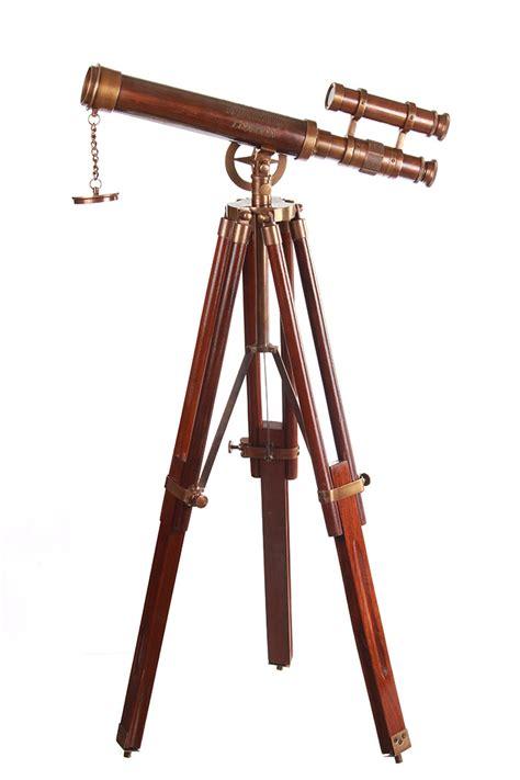 t 233 l 233 scope couleur cuivre 36cm avec tr 233 pied en bois marine pirate steunk gt japan attitude
