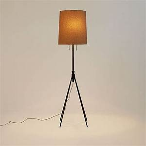 adjustable metal floor lamp bronze west elm With adjustable glass floor lamp west elm
