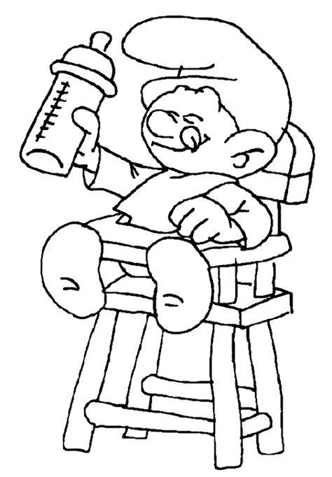 dessin chaise bebe stroumpf