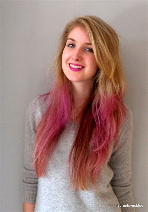 Matching Hair And Lips Dip Dyed Hair Lauren Loves Blog