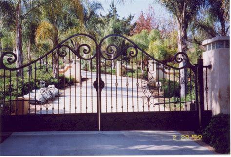 fancy entrance gates bear fence san diego ca