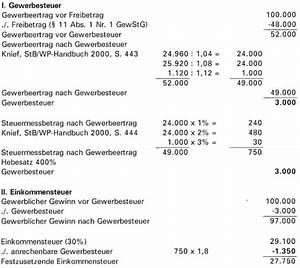 Zu Versteuerndes Einkommen Berechnen Tabelle : gewerbesteuer beispiele zur anrechnung der gewerbesteuer ~ Themetempest.com Abrechnung