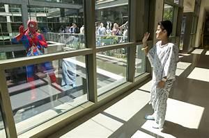 Superheroes visit patients at children's hospital ...