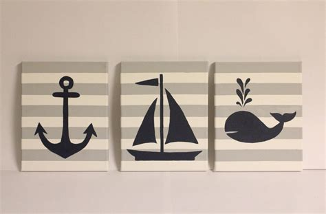Buy the best and latest anchor wall decor on banggood.com offer the quality anchor wall decor on sale with worldwide free shipping. nautical nursery, wall decor, boy/girl nautical, 8x10 acrylic paintings, nautical decor ...