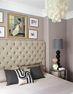 Wandfarbe Grau Schlafzimmer : grau taupe wandfarbe mit warmem unterton bettr cken comfortable bed sweet dreams ~ One.caynefoto.club Haus und Dekorationen