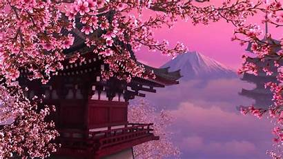 Blossom Cherry Laptop Japanese Background Wallpapers Backgrounds