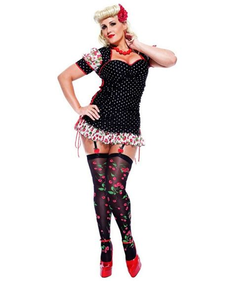 adult french kiss pinup girl  size french maid costume