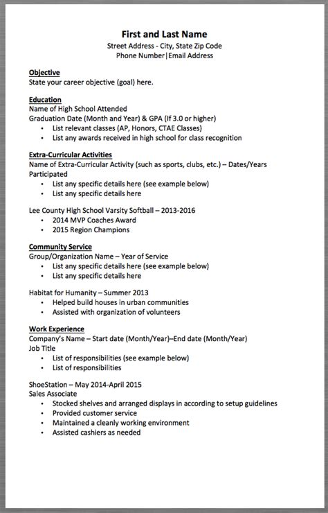 Setup For A Resume by Basic Resume Template And Last Name Address