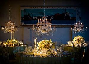Lighten up your wedding reception with crystal chandelier