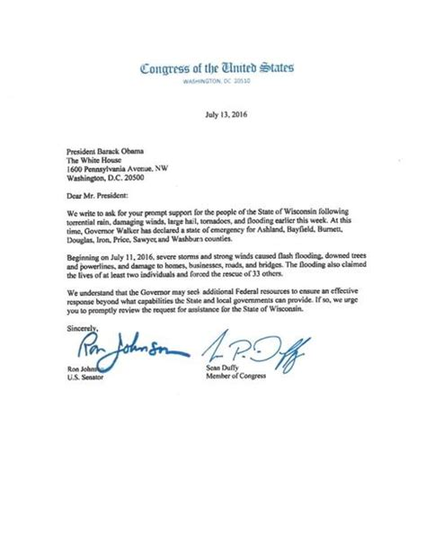 letter requesting disaster relief apg wicom