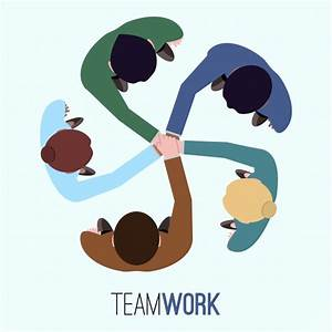 Teamwork background design Vector | Free Download