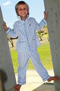Pyjama Garçon long Rayure Ciel Roméo L'orangerie