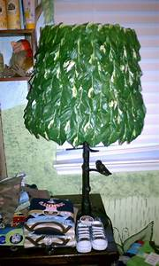 Make, Your, Own, Leafy, Lampshade, For, A, Tree, Lamp, 3, Steps, With, Pictures