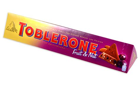 valentines day gift ideas for toblerone fruit and nut swiss chocolate
