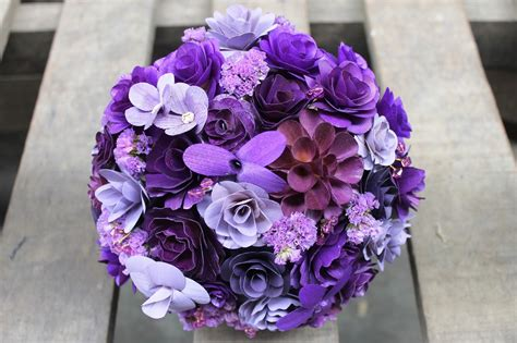 Wholesale Wedding Bouquets Made Of Wooden Flowers