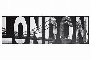 Tableau Deco Noir Et Blanc : tableau noir et blanc london 45 x 140 cm tableau design tableau villes declikdeco ~ Melissatoandfro.com Idées de Décoration