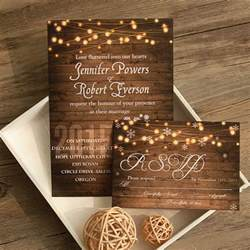 rustic wedding invitations rustic stringlight snowflake winter wedding invitation ewi410 as low as 0 94