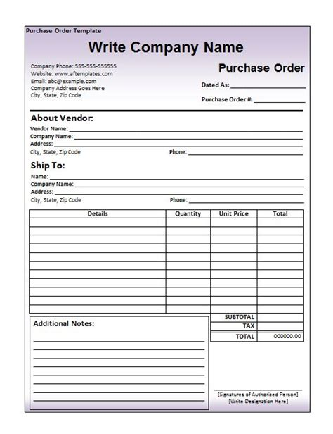 Purchase Order Template 39 Free Purchase Order Templates In Word Excel Free