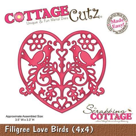 cottage cutz dies cottage cutz 4x4 dies filigree birds