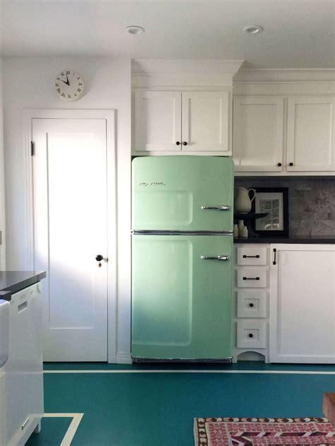 trend alert  kitchens  colorful refrigerators