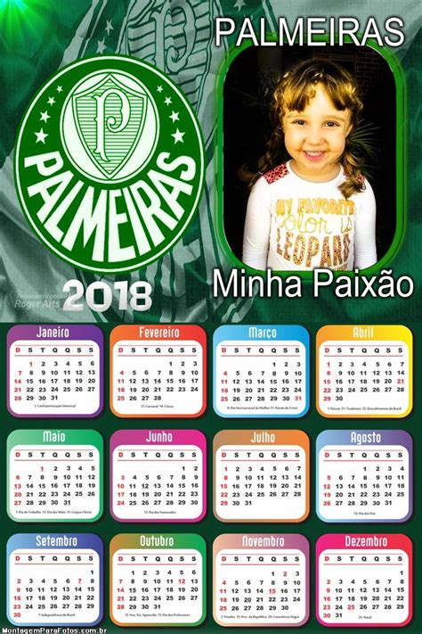 calendario palmeiras montagem fotos