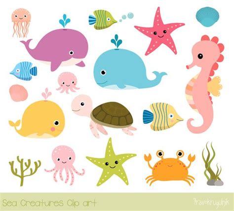 sea creatures clipart sea animal clip the sea clipart seahorse whale
