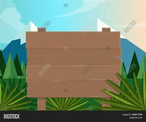 Board Sign Wooden Forest Jungle Vector & Photo | Bigstock