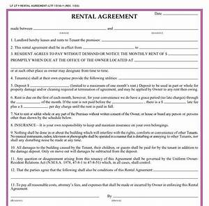 residential lease agreement template real estate forms With rental agreement document template