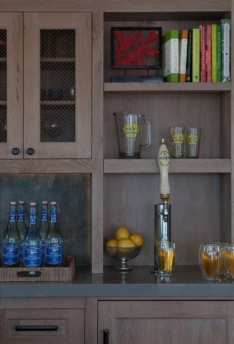 wet bar  beer tap transitional kitchen